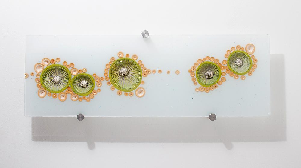 Green Gills $850  ceramic, acrylic 10 x 30