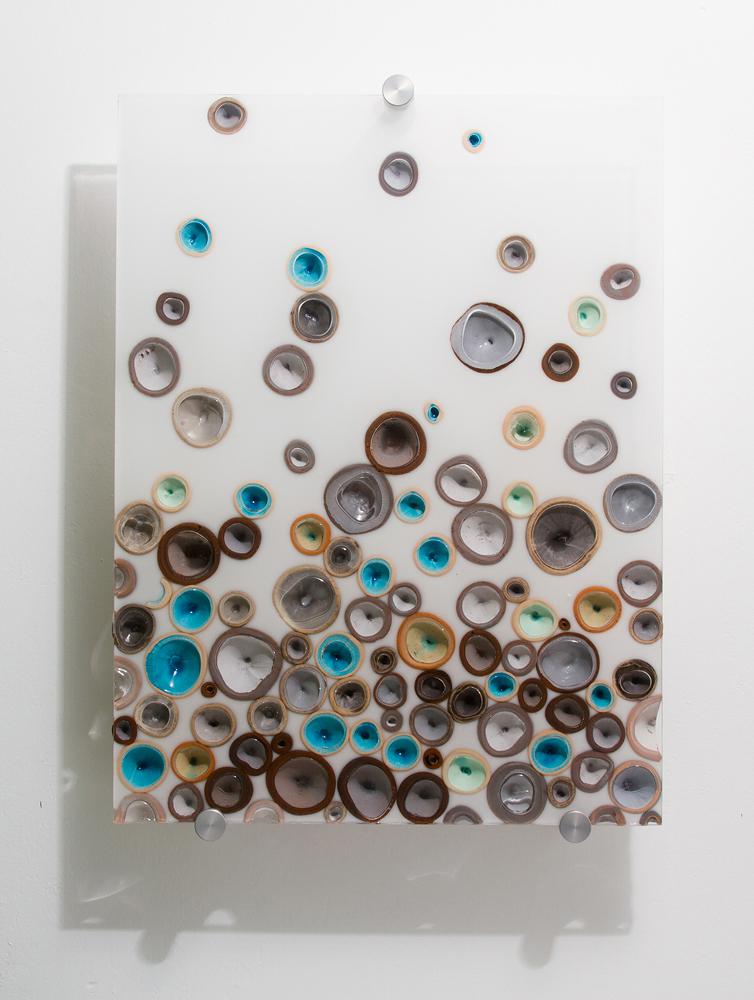 Fizz (Blue) $850  ceramic, acrylic 20 x 15