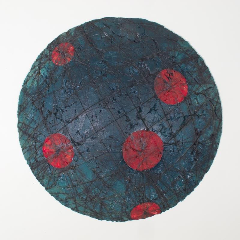 Untitled Swell #2 (Node Series) $1000 ceramic 24 x 24 x 4.25