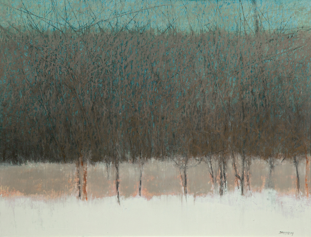 Winter Grays SOLD oil pastel 31 x 36.5
