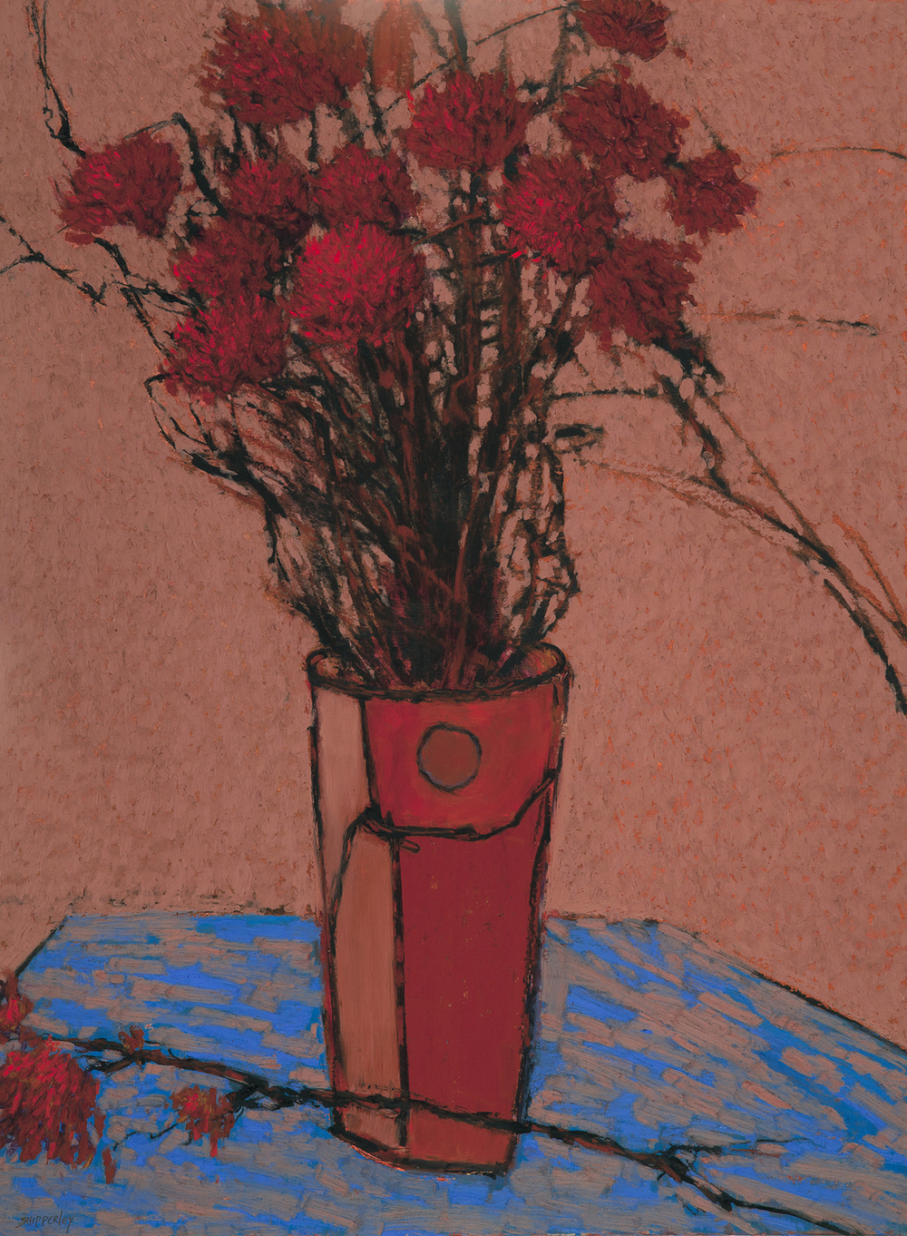 One Remaining Carnation $3,400 oil pastel 42 x 35