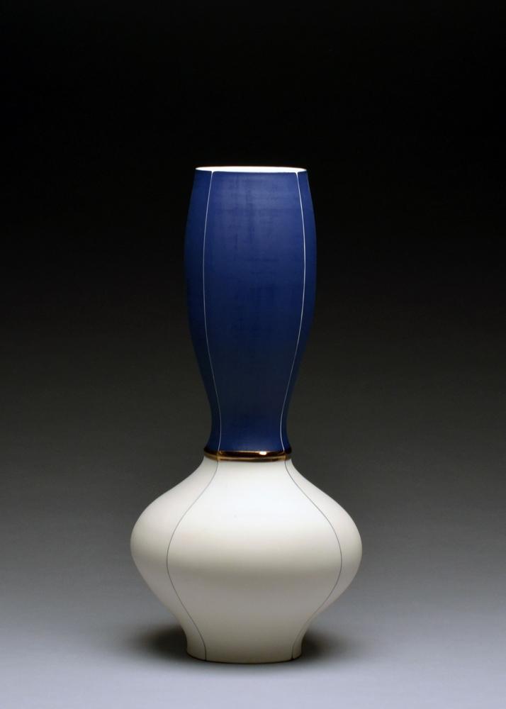 Vase $800 porcelain 18 x 9 x 9