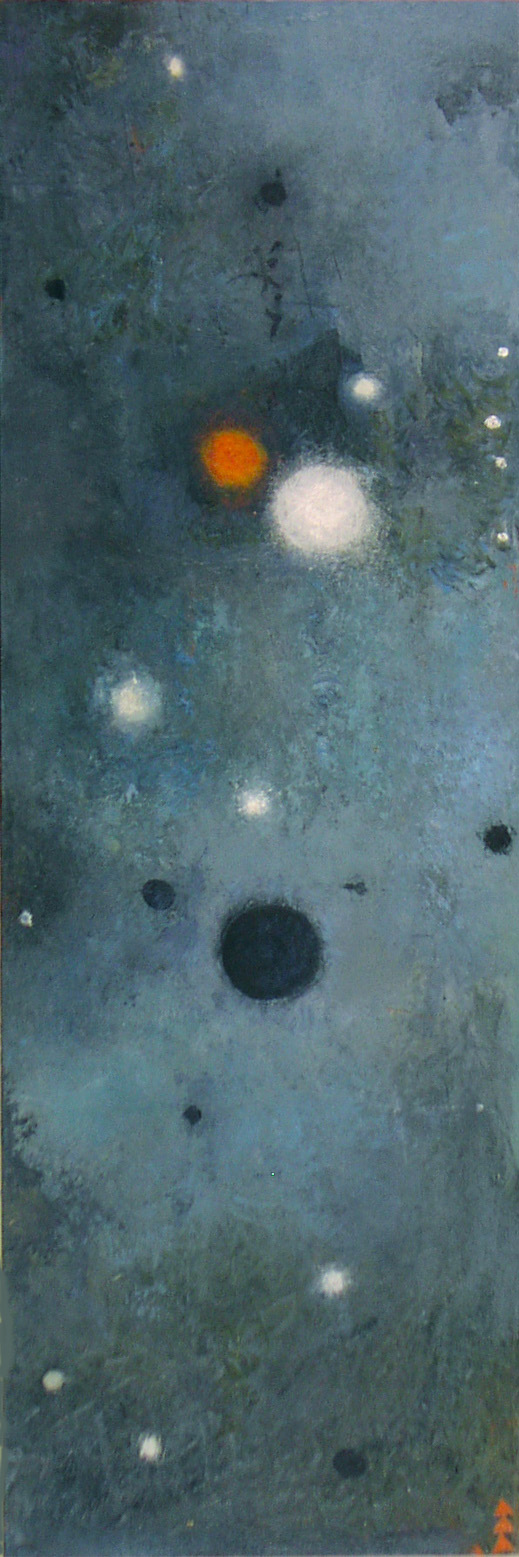 LAST NIGHT  oil on canvas36 x 12