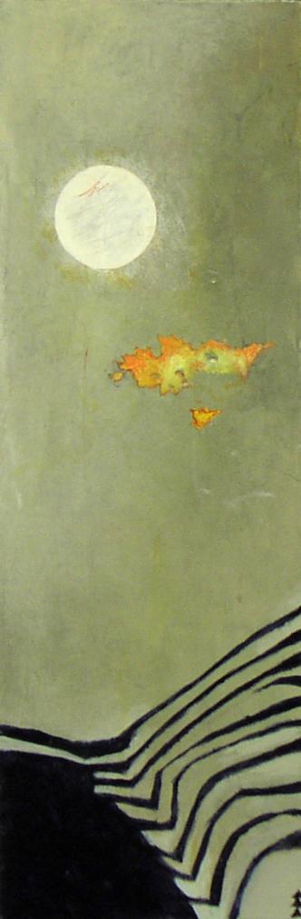 ON MONAN'S RILL SOLD  acrylic on panel 24 x 8 x 2