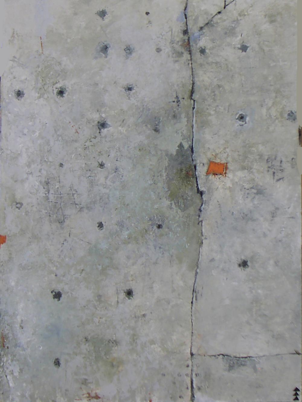 SPLITROCK $1,200  acrylic on panel 24 x 18