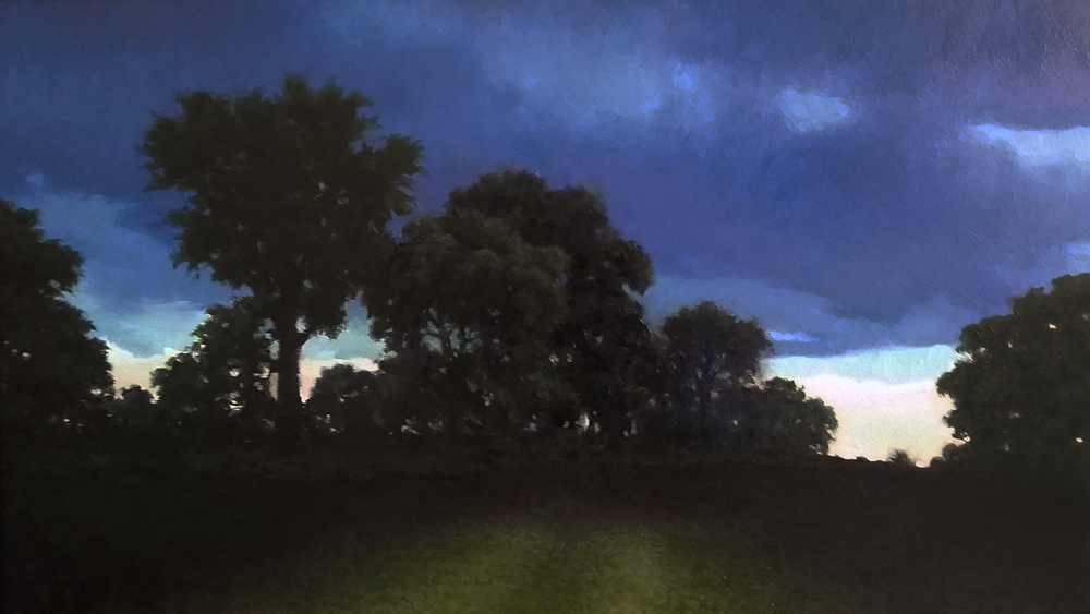 Last Light at Solstice $1,400 oil on canvas 27.5 x 18