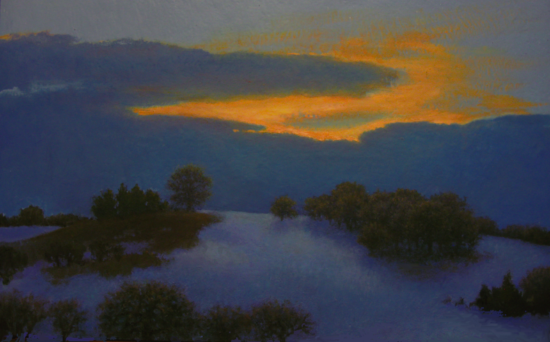 Sunrise with Hoarfrost SOLD oil on canvas