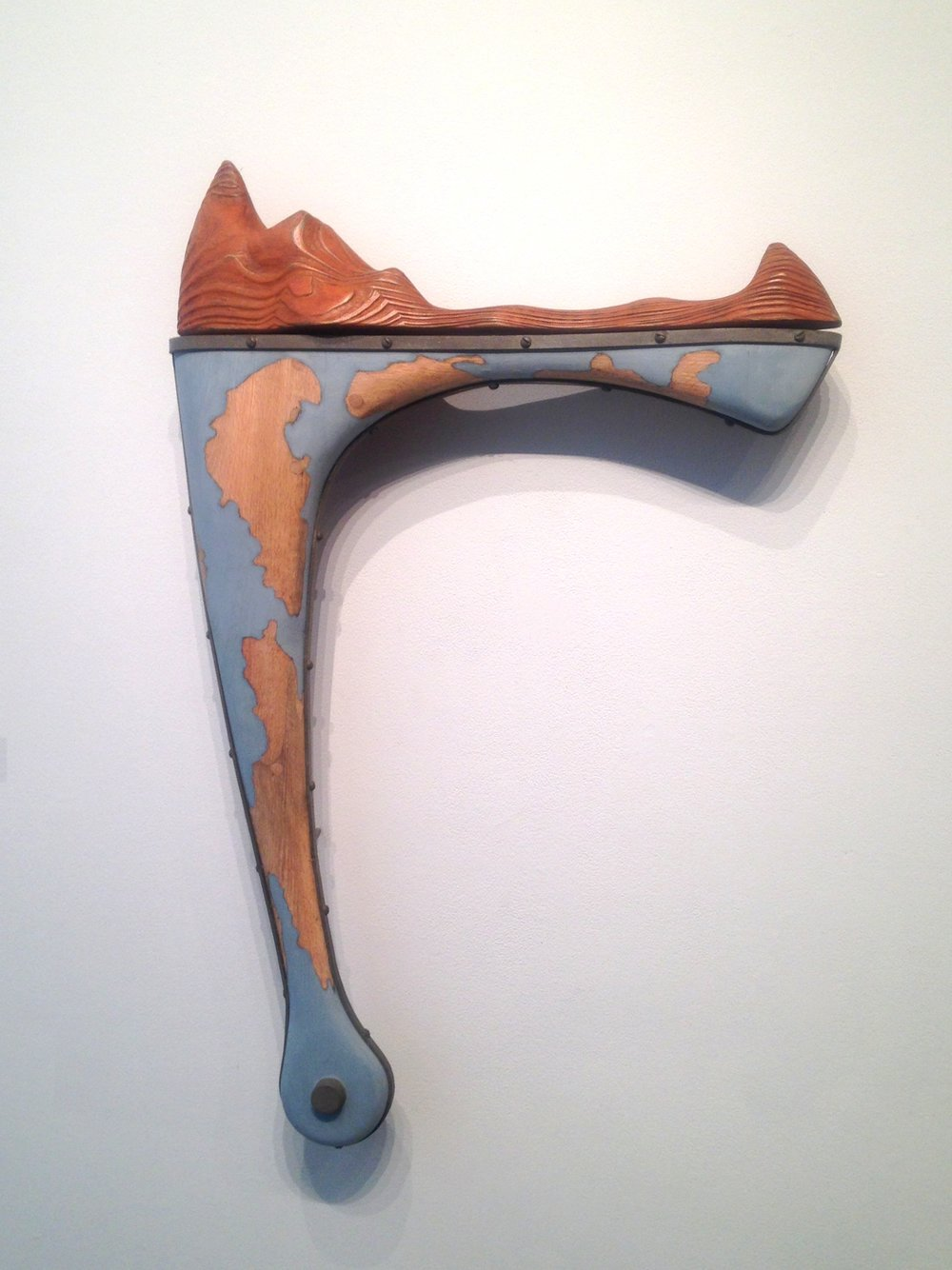 Implement - Nautical Landscape $1,500 oak, steel, milk paint 39 x 25 x 4