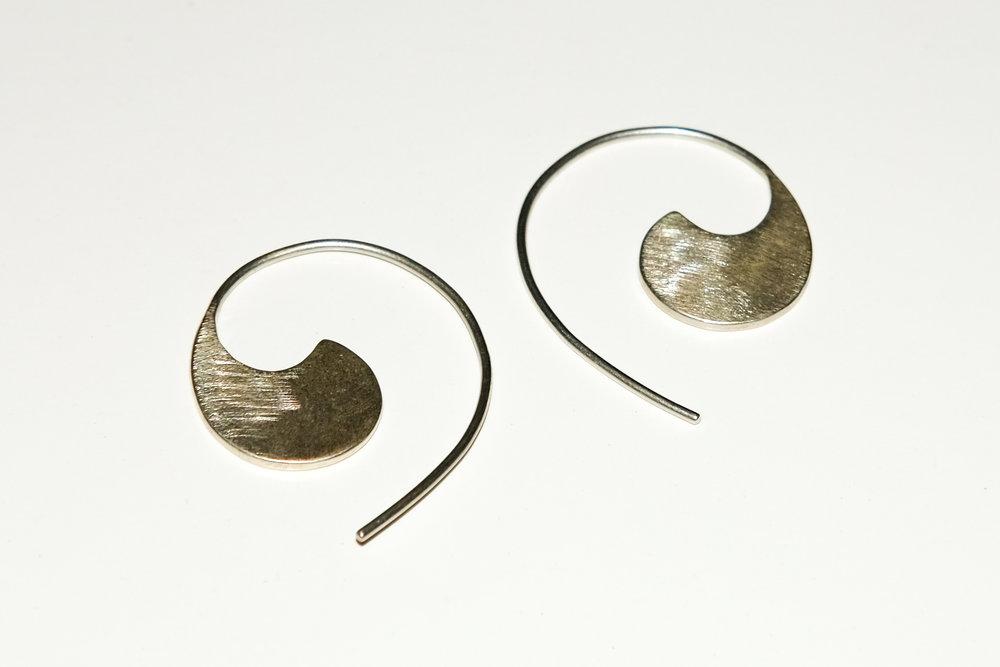 Silver Comma Earrings  silver
