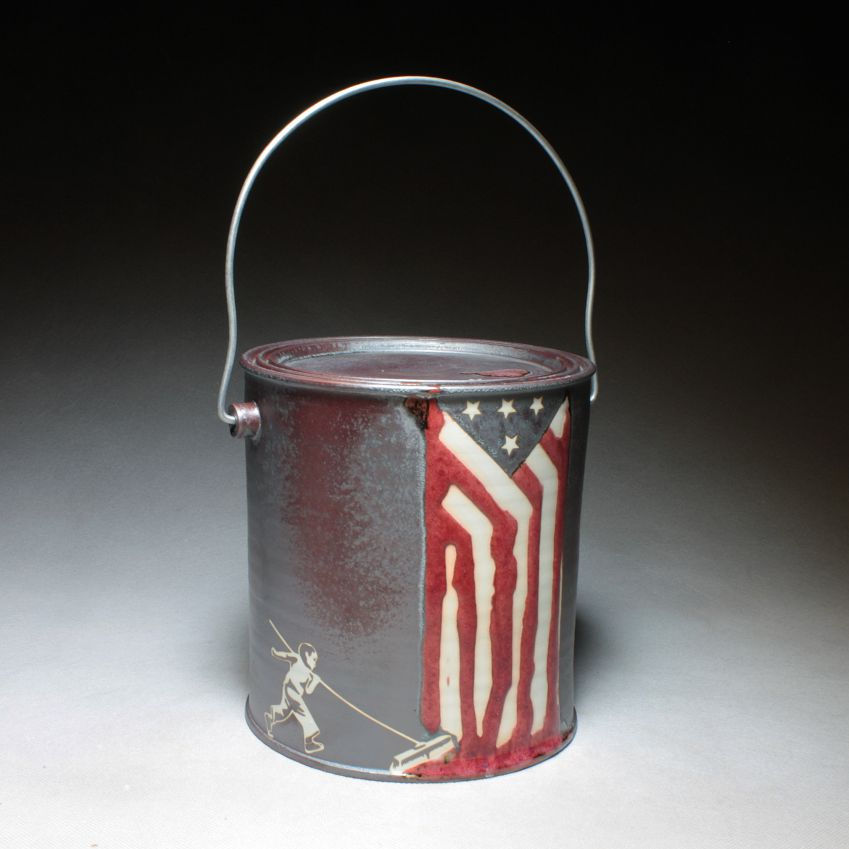 Paint Can with Flag