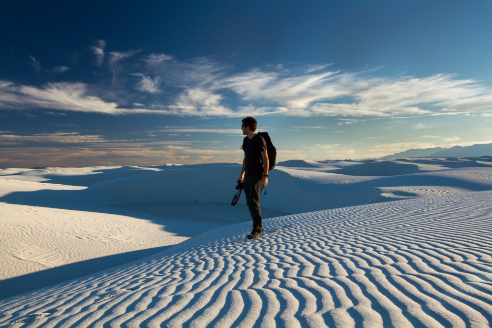 Ben at White Sands National Monument