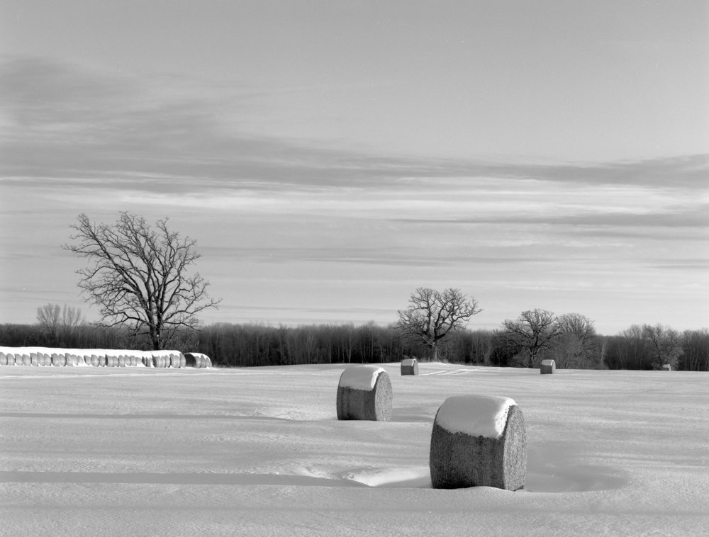 William Lemke - Hay Bales in Snow