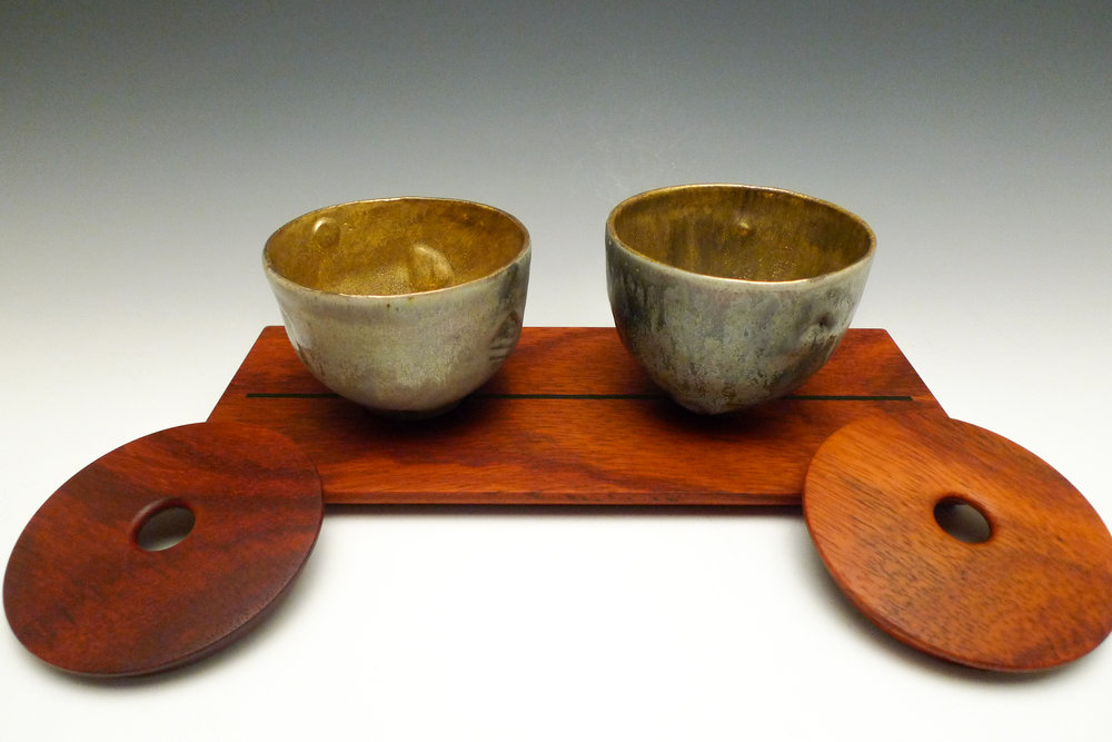 Covered Bowls on Plinth