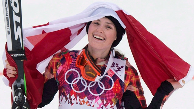 Marielle Thompson, shown here after winning gold at the Sochi Olympics, has won two straight races to begin the World Cup ski cross season. (Jonathan Hayward/Canadian Press)