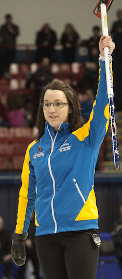 Alberta's Val Sweeting finished second at last year's Scotties in Montreal. (Photo, CCA/Andrew Klaver)