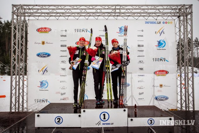 Canadian podium at Lativan Champs, left to right: me, Alysson and Andrea