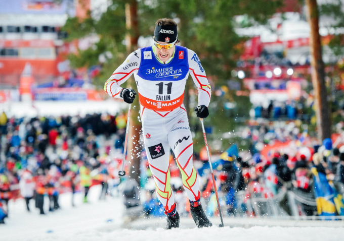 Alex Harvey of Canada competes during the men's 1.4 km sprint classic qualification race at the Nordic world ski championships in Falun, Sweden, on Feb. 19, 2015. JONATHAN NACKSTRAND/AFP/Getty Images