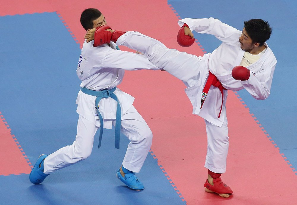 Karate is one of the sports hoping to be included in the Olympic programme. Photo: Karate competition at the 2014 Asian Games.