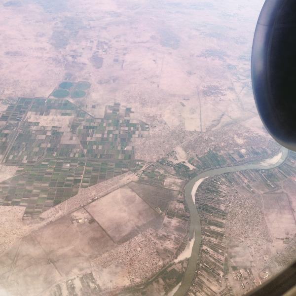 Nile through outskirts of Khartoum, Sudan