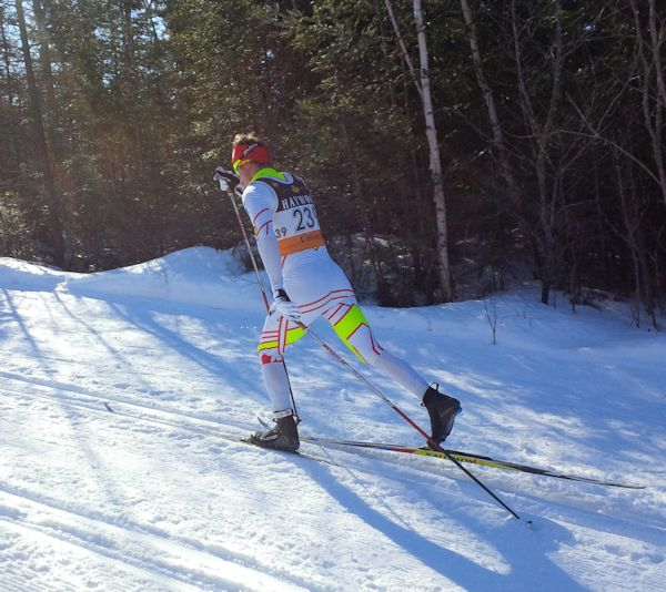 Ivan powering along the Lappe course
