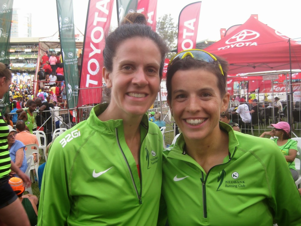 with Amy after Comrades 2014
