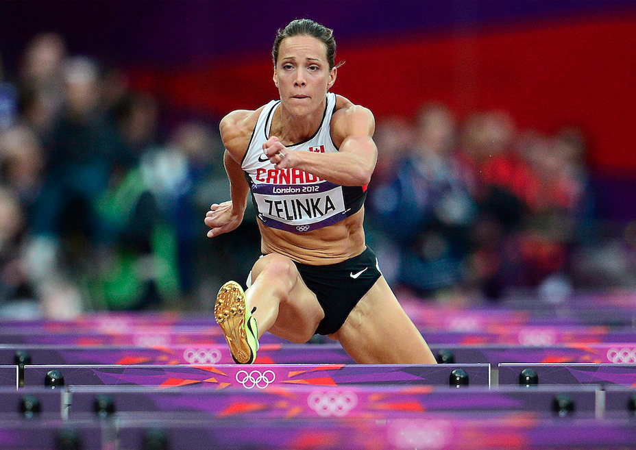 Canada's Jessica Zelinka competes in the during the Summer Olympics in London on August 7, 2012. Zelinka has a new home and a new coach, and is returning to the heptathlon this season after a taking a year off from the gruelling event and competing only in hurdles. THE CANADIAN PRESS/Sean Kilpatrick