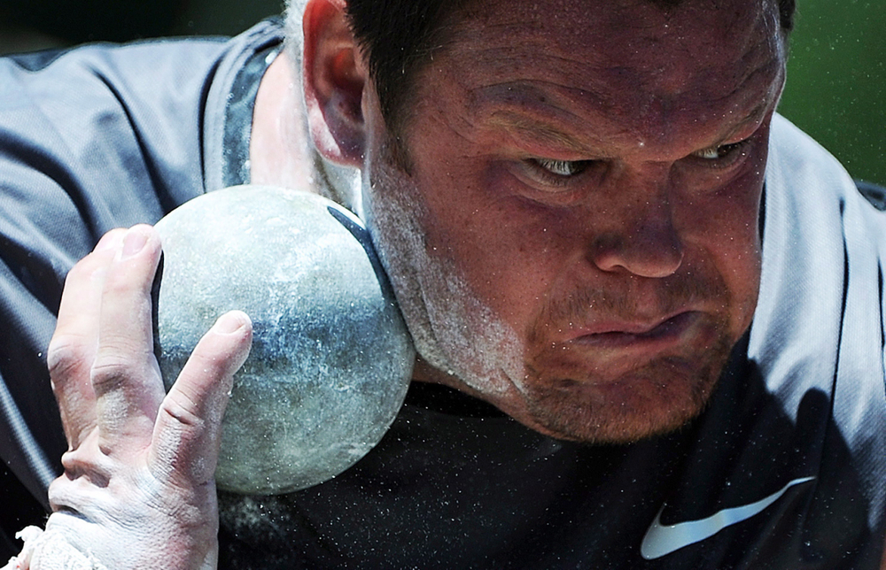 Dylan Armstrong at 2012 Trials, the Beijing 2008 bronze medallist also represented Canada in shot put at London 2012.