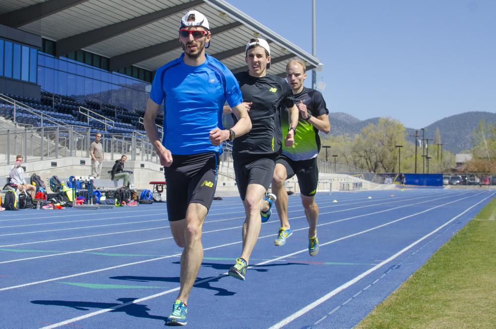 Alex Genest, Jeremy Rae & I rolling through 5*400m at 7,000ft