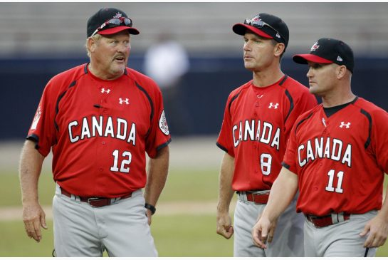 ANDRES LEIGHTON / THE ASSOCIATED PRESS Canada's manager Ernie Whitt, left, is looking forward to his team defending their title on home soil at the Pan Am Games.