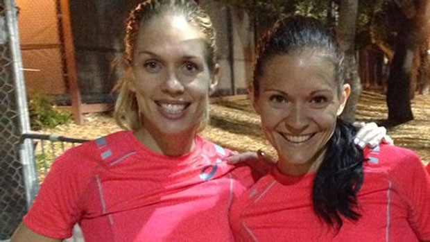 Natasha Wodak, left, and Lanni Marchant both achieved the Rio Olympic standard in the 10,000m at the Payton Jordan meet in California. Wodak also broke the Canadian record.