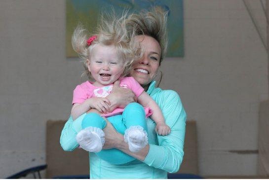 STEVE RUSSELL / TORONTO STAR Emilie Turgeon looks as comfortable on the trampoline as her mother, multiple Olympic medallist Karen Cockburn, right.