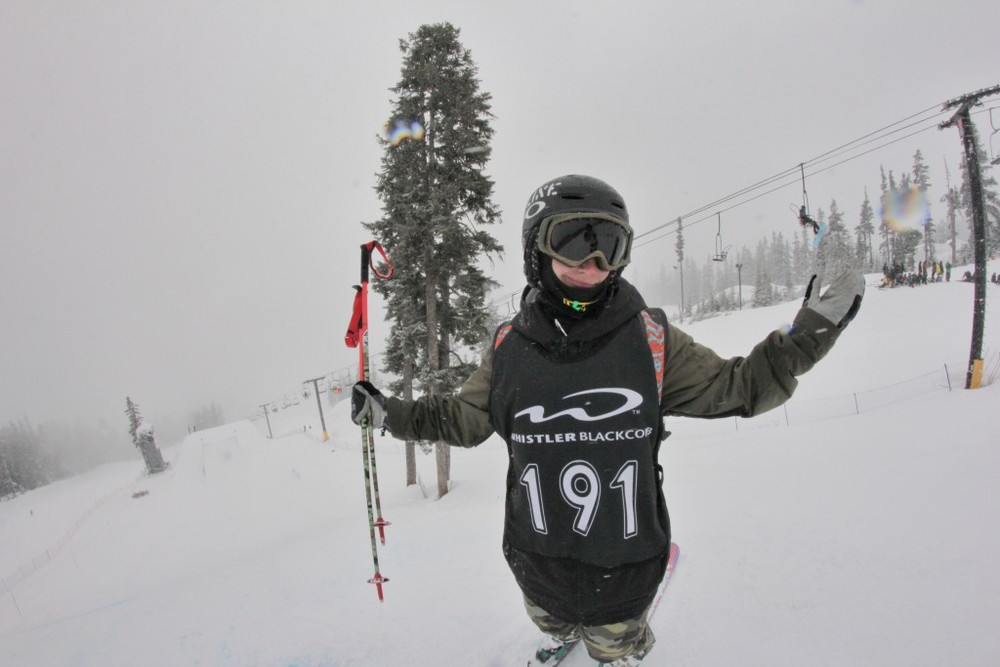 Weather can get gnarly a the top of Blackcomb.