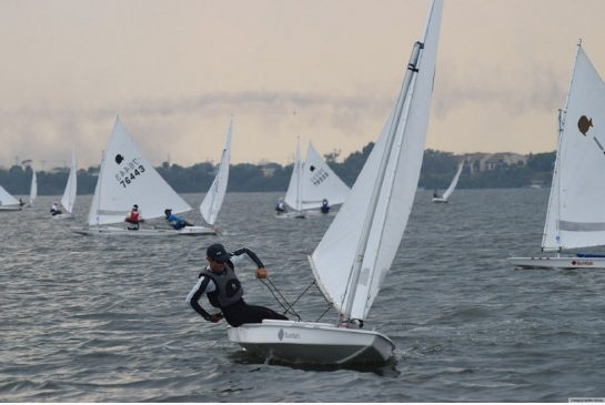 Luke Ramsay will be sailing the Sunfish, pictured here, for Canada at the Pan Am Games. It's a class of sailing boat Canadians don't normally race anymore but it's the boat many South American and Caribbean countries can still afford to sail.