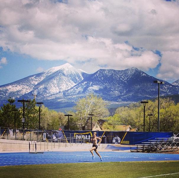 Photo prise de Instagram. Dernier entrainement à Flagstaff