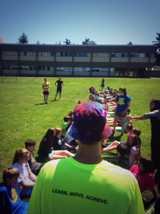 Had a great day working with kids promoting physical literacy with the PISE/Victoria International Track Classic School Program!
