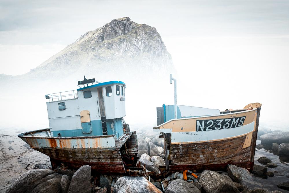 Shipwreck in Lofoten, Norway