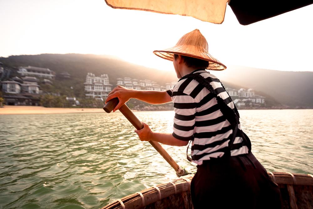 Basket boat in Da Nang, Vietnam