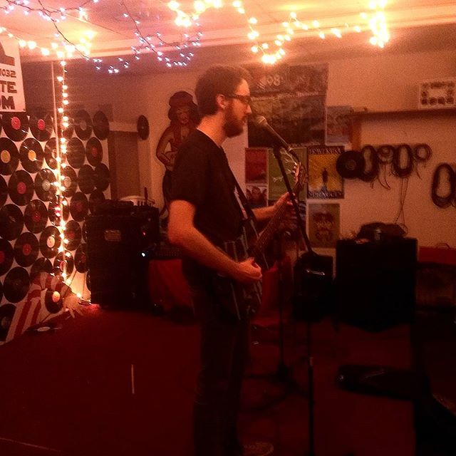 Beardmouth live at #cosmicvinyl #twoshowsinarow #diyshows #Titusville #Florida