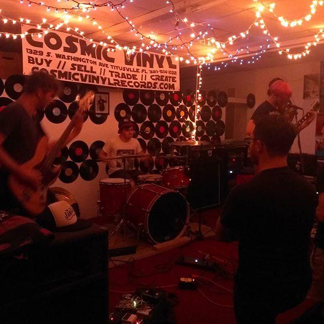 Alleys live at #cosmicvinyl  #Brevard #Florida #diyshows #punk