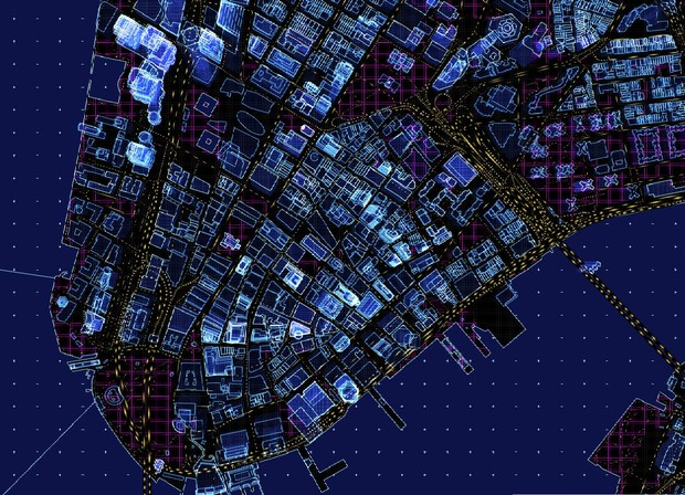 A Mesmerizing, Futuristic Map With Animated Traffic and Glowing ...