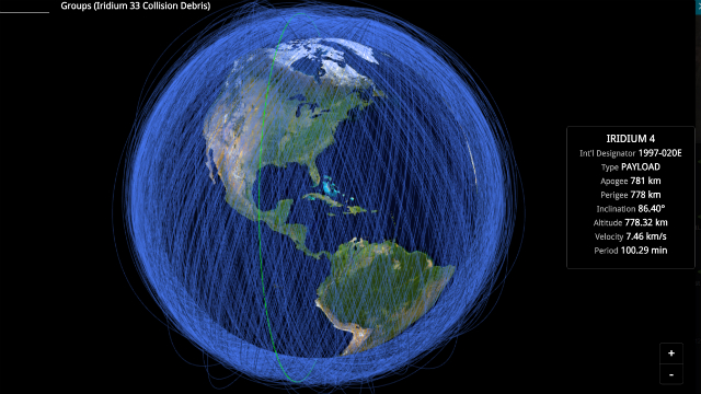 Heres A RealTime Map Of All The Objects In Earths Orbit BGC - Real time satellite map images