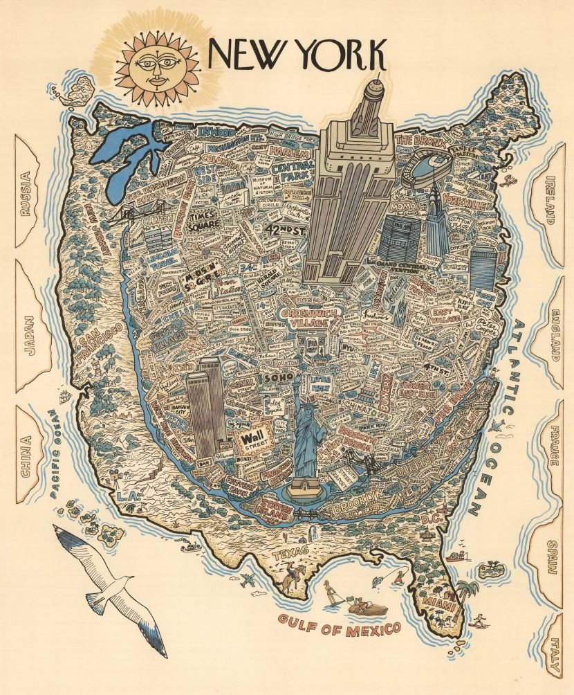 a new yorker u0027s delightfully stereotypical map of america u2014 bgc