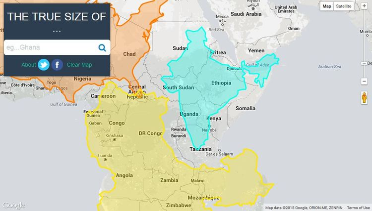 The true scale of the earth interactive map shows how the us india now two computer developers in detroit michigan have created an interactive map called the true size of which shows how large countries really are gumiabroncs Gallery