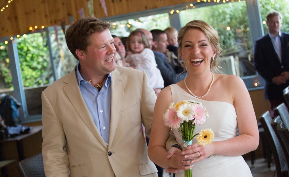 dartmouth beach wedding bride and groom 6