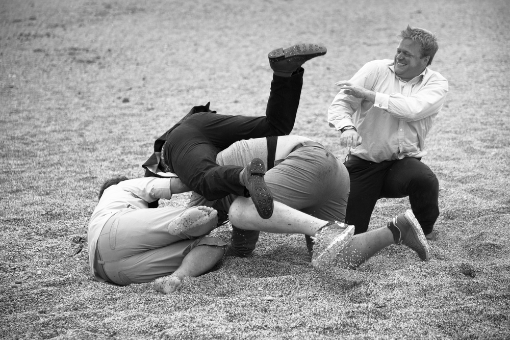 dartmouth wedding beach games rugby scrum