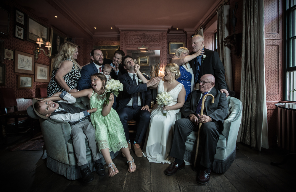 Zetter's Town House Islington wedding group shot 3