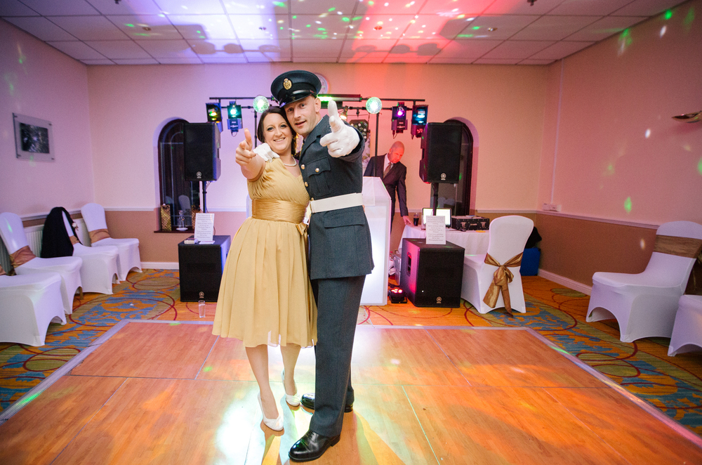 Old Military Style Wedding Couple