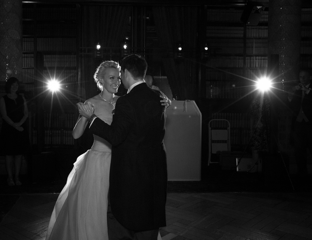 Black and White picture of Newlyweds
