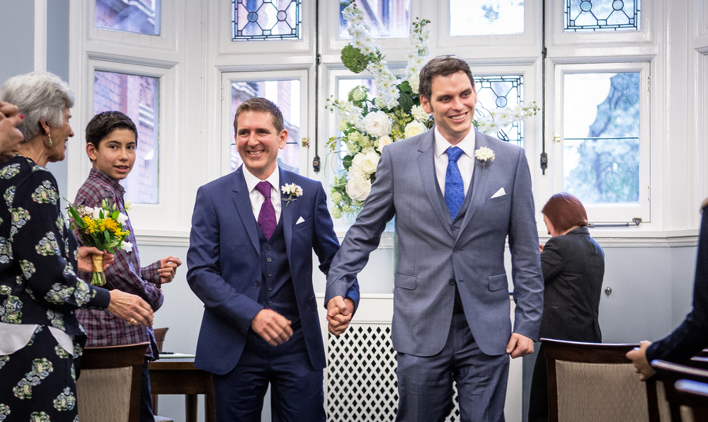 Same sex marriage wedding photo