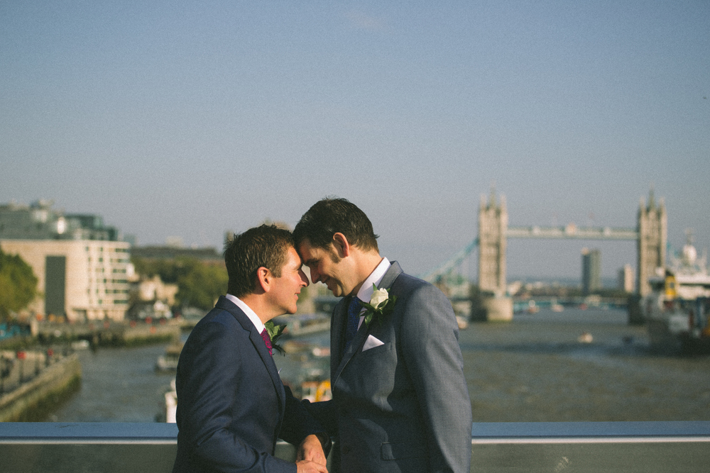 st paul's wedding same sex marriage london bridge photography